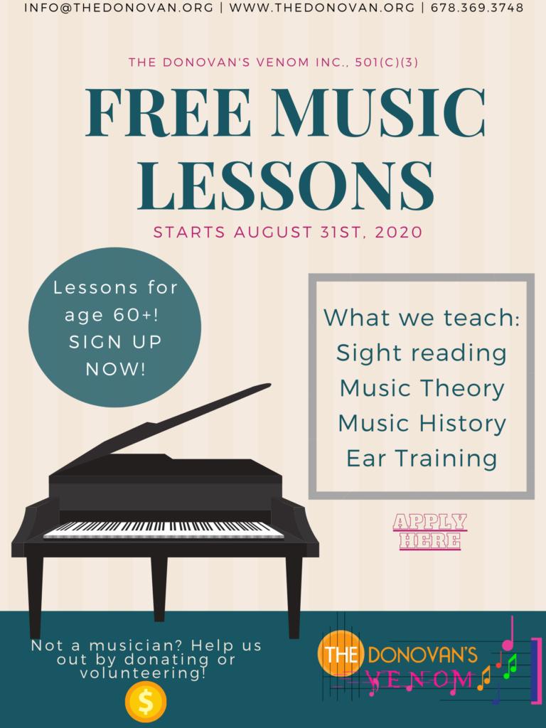 Free Music Lessons For Senior Citizens